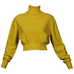 Alaia Vintage Chartreuse Sweater