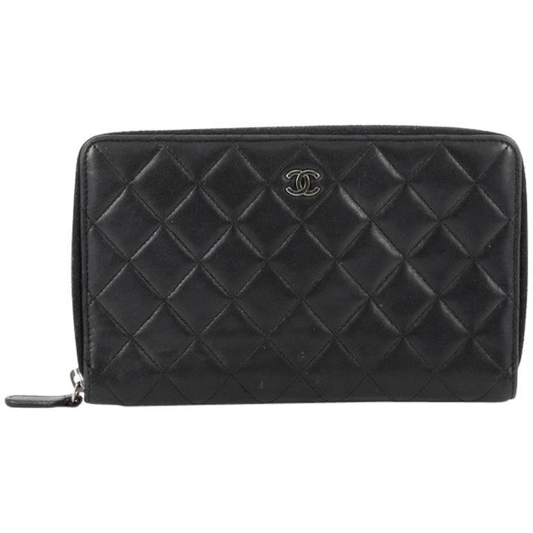 a393a79ad9d9 Chanel Zip Around Organizer Wallet Quilted Lambskin Large at 1stdibs
