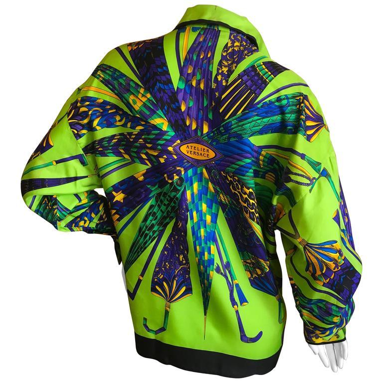 89304bdb Gianni Versace Couture Atelier Versace Silk Umbrella Print Blouse For Sale