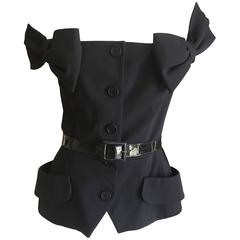 Christian Dior by John Galliano 2011 Black Off the Shoulder Jacket with Bows