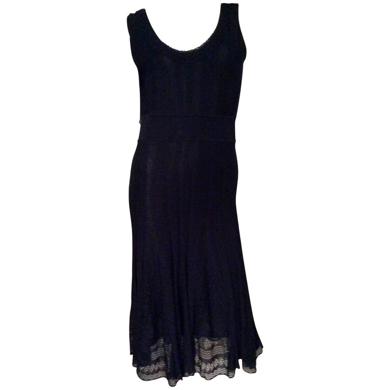 Chanel Blue Knit Sleeveless Dress - Timeless 1
