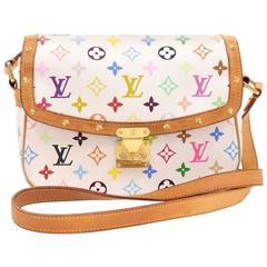 Louis Vuitton Sologne White Multicolor Monogram Canvas Shoulder Bag