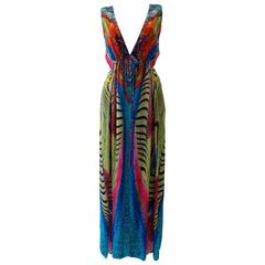 Contemporary Silk Printed Maxi Dress From Laleh Fayaz