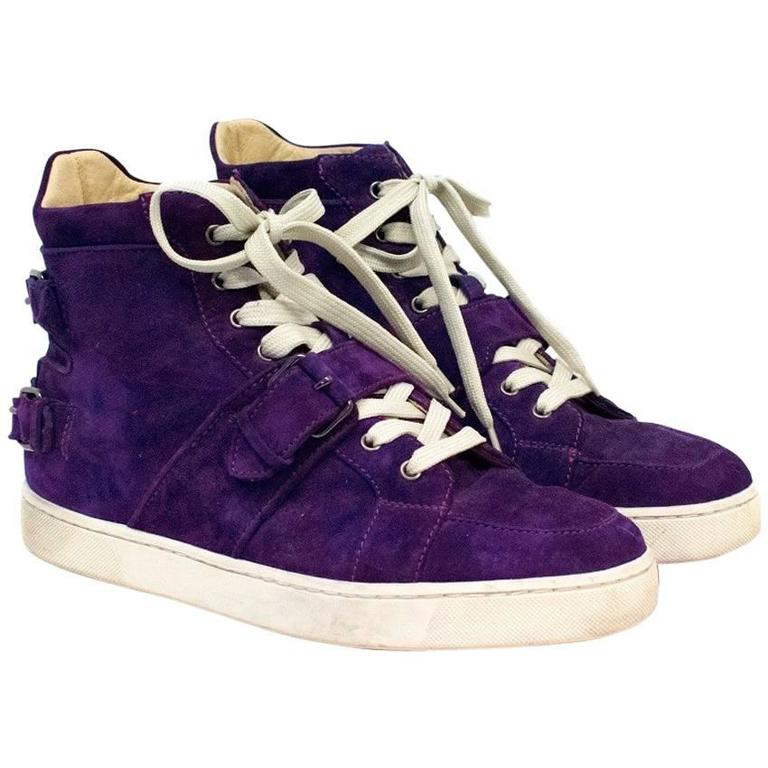d4fbd9c0872 Christian Louboutin Mens Purple Suede Hi-top Trainers For Sale at ...
