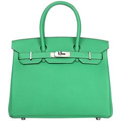 Hermes Birkin 30  Togo Leather 1K Bamboo Color PHW