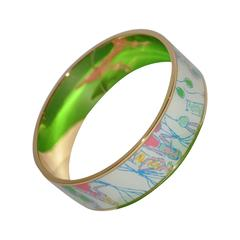 "Lilly Pulitzer Multi-Colored ""Balloon"" Gold Hardware Bangle"