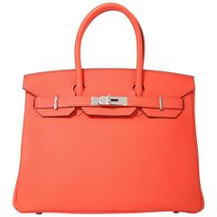 Hermes Birkin 30 Togo Leather 9T Capuccine Color PHW