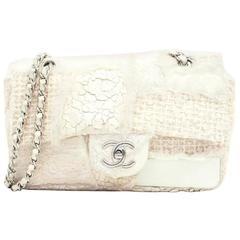 Chanel Cream Multi Textured Flat Bag