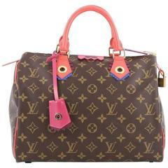 Louis Vuitton Speedy Handbag Limited Edition Totem Monogram Canvas 30