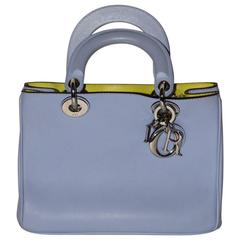 Christian Dior Small Diorissimo Bag Bicolore Soft Calfskin Leather