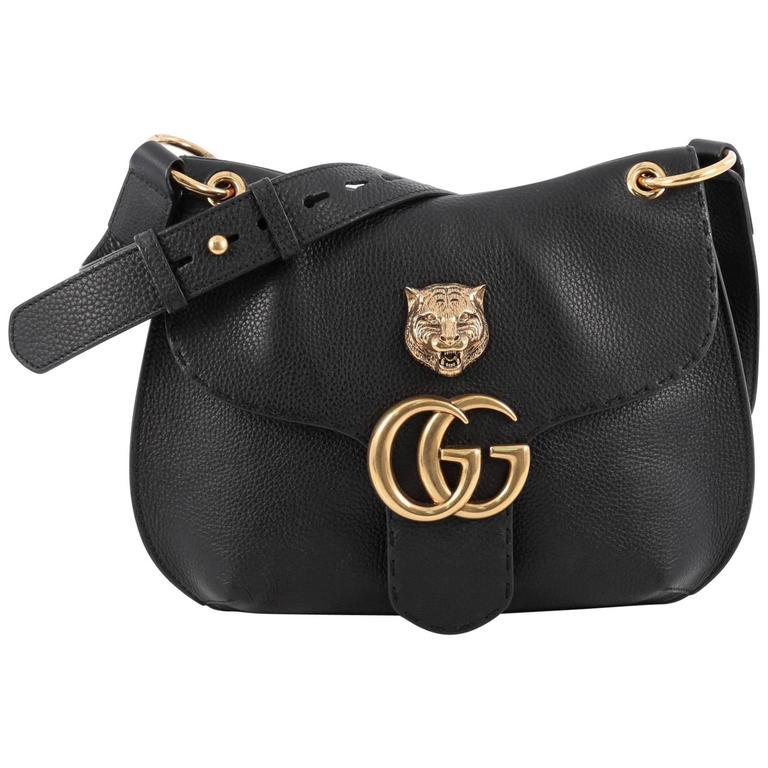 7edae8ad349dd0 Gucci GG Marmont Animalier Shoulder Bag Leather Medium at 1stdibs