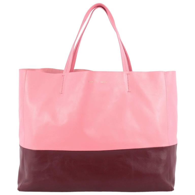 Celine Horizontal Bi-Cabas Tote Leather Large For Sale