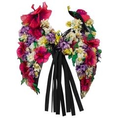 1970s Adolfo 3D Floral Vest