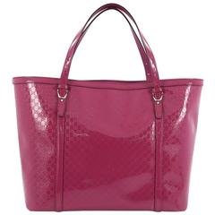 Gucci Nice Tote Patent Microguccissima Leather Large