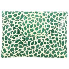 Oscar de la Renta Grafton Flat Envelope Clutch Printed Snakeskin Large
