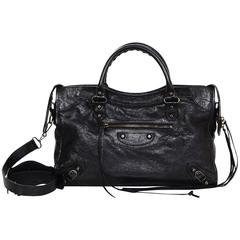Balenciaga Black Leather Classic City Motorcycle Bag