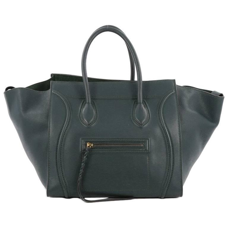 Celine Phantom Handbag Smooth Leather Medium For Sale