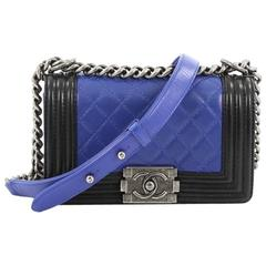 Chanel Bicolor Boy Flap Bag Quilted Calfskin Small