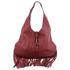 Gucci Nouveau Fringe Jackie Hobo Leather