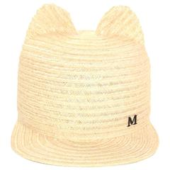 Maison Michel NEW Natural Straw Jamie Hat sz M rt. $655