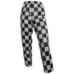 Comme des Garçons Black & White Sequin Pants Size 4.