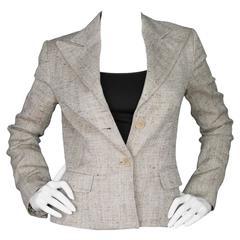 Dolce & Gabbana Nude Linen Jacket sz IT40