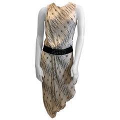 Haute Hippie Studded Belt Sleeveless Dress