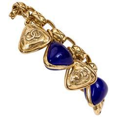 Chanel Blue Gripoix Charm Bracelet