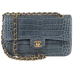 SO SO RARE Pristine Chanel Alligator Medium Double-flap 'Sac Timeless' With GHW