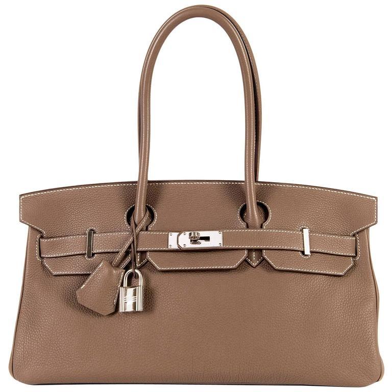 WOW Hermes 42cm JPG Birkin Bag in Etoupe Togo with Palladium Hardware 1