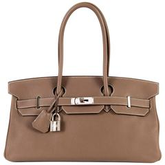 WOW Hermes 42cm JPG Birkin Bag in Etoupe Togo with Palladium Hardware