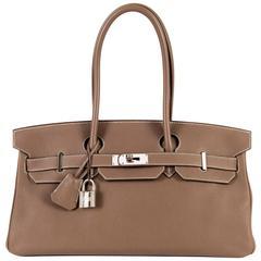 WOW Hermes 42cm JPG Birkin Bag in Etoupe Togo with Palladium Hardware