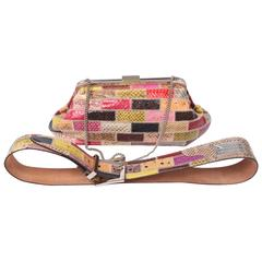 Dolce & Gabbana Python Patchwork Clutch and Belt - multi colour