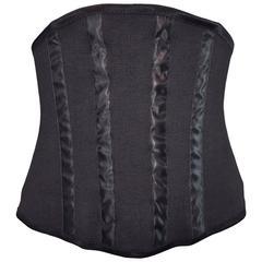 F/W 1997 Dolce & Gabbana Black Corset Waist Cincher Belt