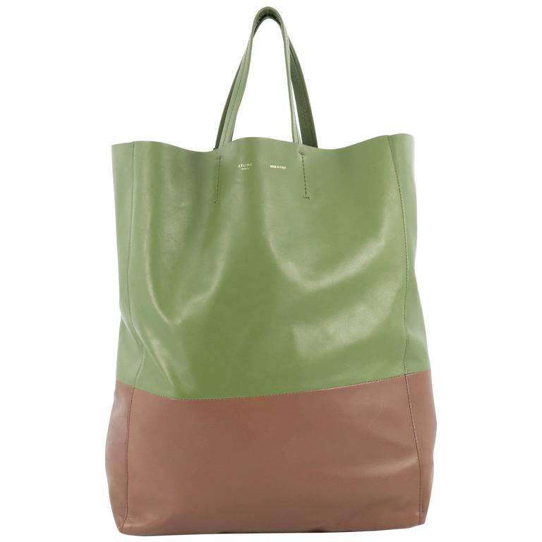 Celine Vertical Bi-Cabas Tote Leather Large For Sale