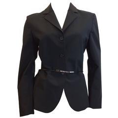 Prada Black Blazer With Belt