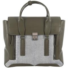 3.1 Phillip Lim Pashli Satchel Lizard Embossed and Leather Large