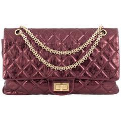 Chanel Reissue 2.55 Handbag Metallic Quilted Aged Calfskin 227