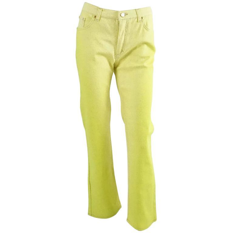 Pantalon Taille Haute Classique - Vert Cavalli Roberto 6er2Ri5