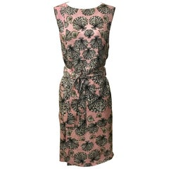 Emilio Pucci Pink Silk Shell Seashell Print Belted Sleeveless Sun Dress