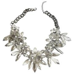 Brilliant Crystal Floral Necklace
