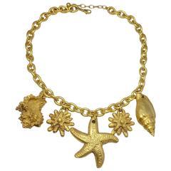 Nautical Sea Lovers Starfish & Sea Shell Necklace