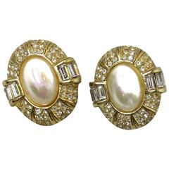 Christian Dior Vintage Classic Clip Earrings, 1980s