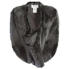 20th Century Maison Martin Margiela Rabbit Fur Cropped Poncho