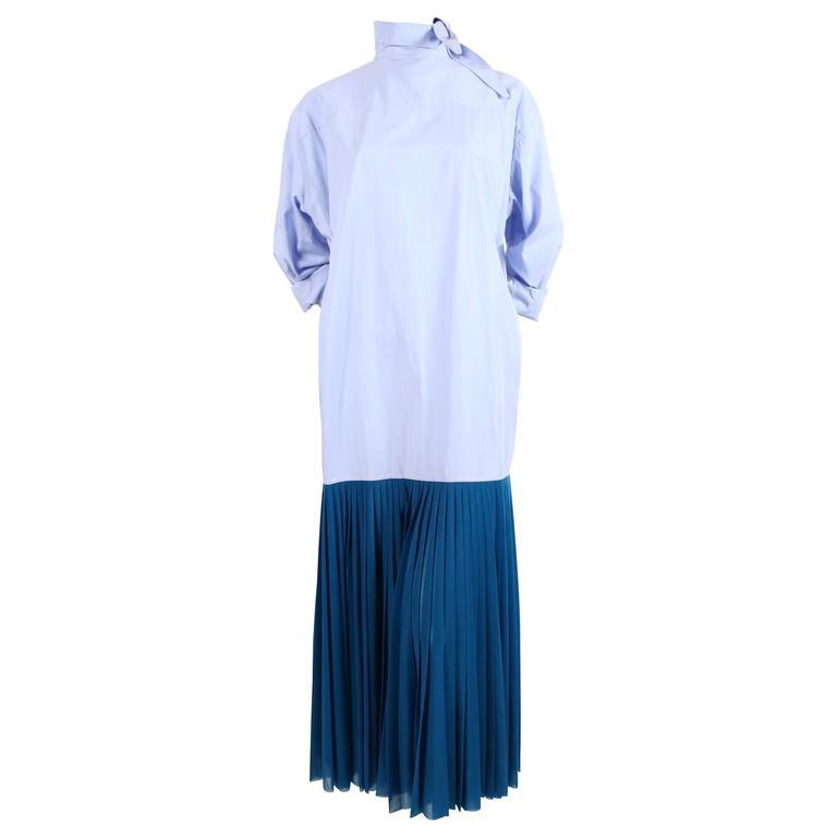 Celine by Phoebe Philo blue runway dress, 2017