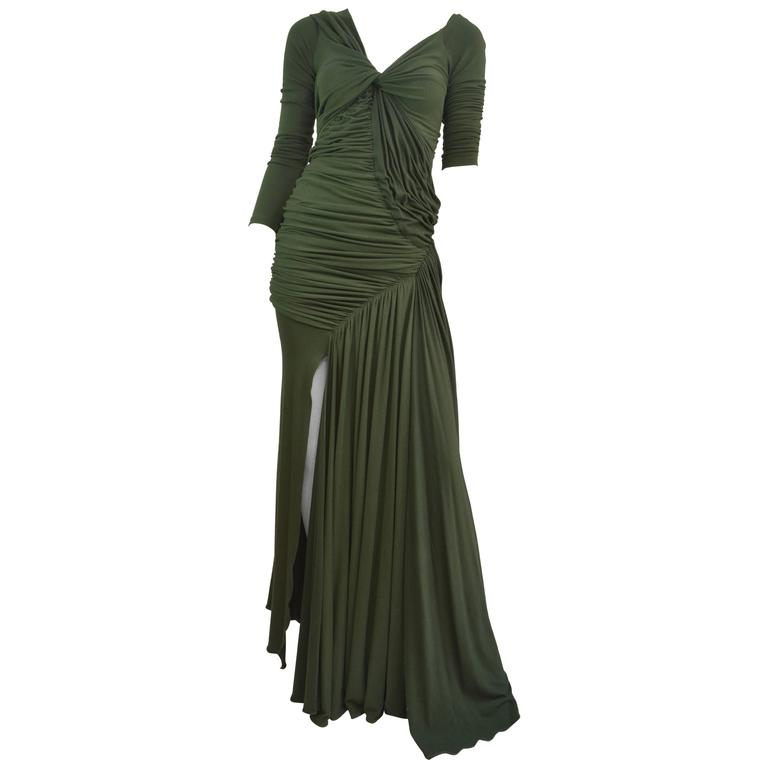 Donna Karan  Black Label Jersey Gown For Sale