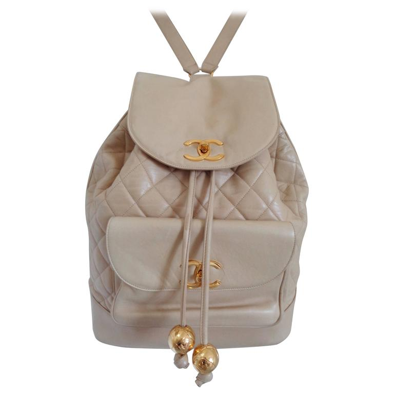 Chanel beije gold hardware Backpack