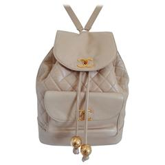 Chanel beije gold hardware Backpack