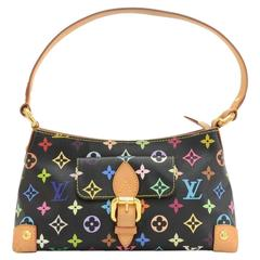 Louis Vuitton Eliza Black Multicolor Monogram Canvas Hand Bag