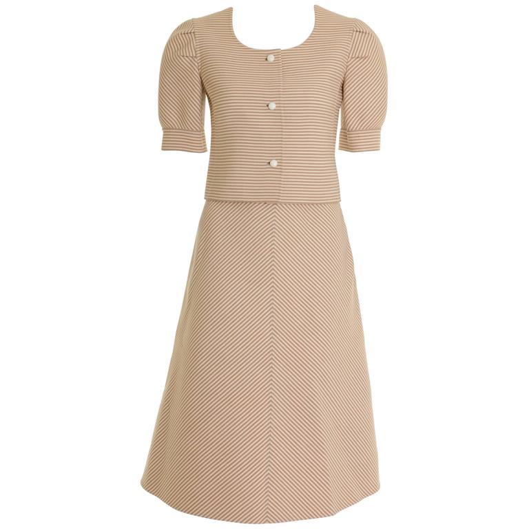 1960s MILA SCHÖN Striped Skirt Suit